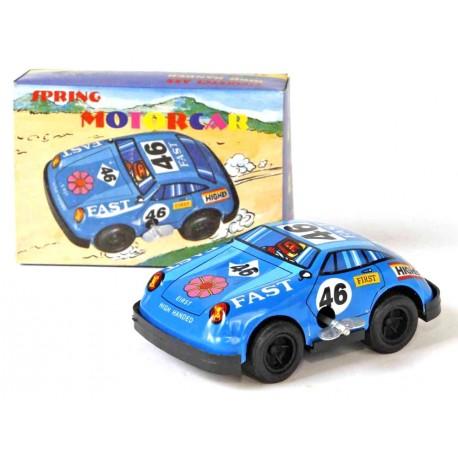 Blue racecar