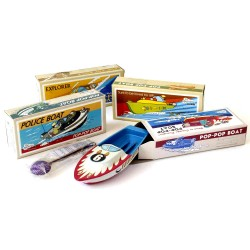 Lithograph pop-pop boat
