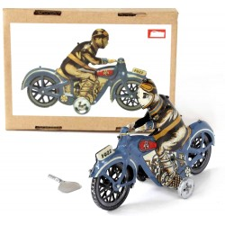 Motorcycle Driver blue