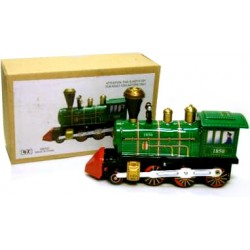 Steam Engine Locomotive green