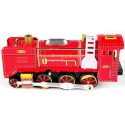 Steam Engine Locomotive red