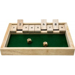 Wooden Shut The Box dice game