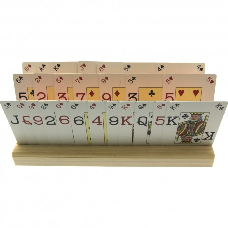 4 X Large Wooden Playing Card Holders