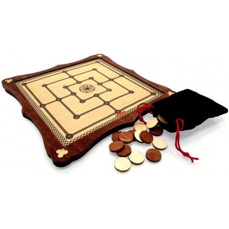 Nine Men's Morris Traditional Wooden Board Game