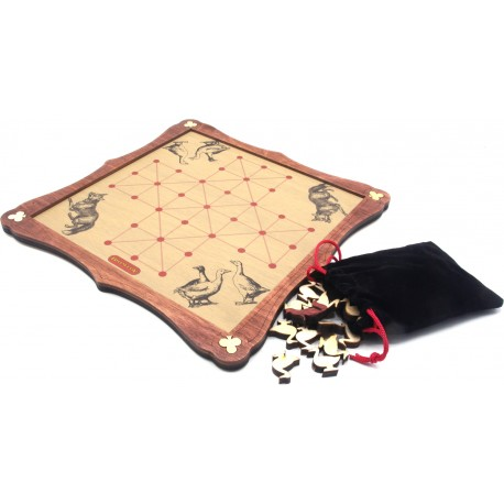 Fox & Geese Traditional Wooden Board Game