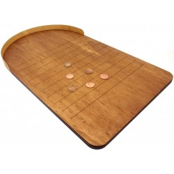 British Wooden Shove Ha'penny Board
