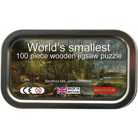 World's Smallest Wooden Jigsaw Puzzle, Constable