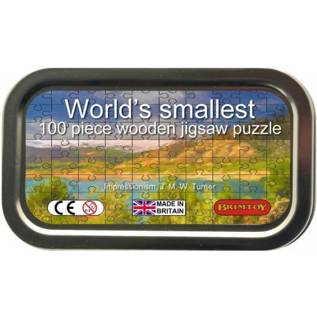 World's Smallest Wooden Jigsaw Puzzle, Turner